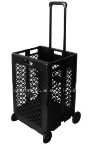 Extra Capacity Plastic Shopping Cart (FC404KP) pictures & photos