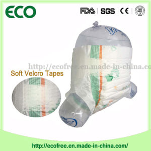 Soft and Breathable & High Absorbency Disposable Baby Diaper in Hook & Loop Tapes pictures & photos