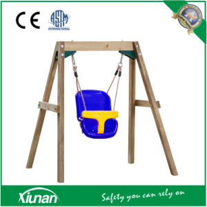 Sbs02 Wooden Baby Toddler Swing Set Outdoor Indoor Playground pictures & photos
