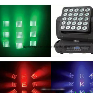 Stage Lighting 4in1 RGBW 5*5 Pixel Matrix 25PCS 12W Beam LED Moving Head pictures & photos
