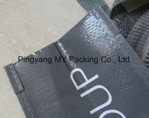 Button Closed Supermarket BOPP Laminated PP Woven Shopping Tote Bag with Handle pictures & photos