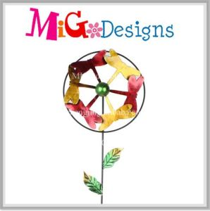 Yard Art with Wind Spinner- Popular Colorful Dragonfly Garden Metal Stake pictures & photos