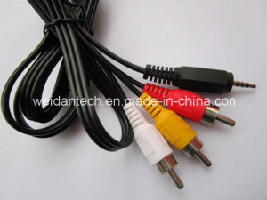 3.5st 3 Channel to 3RCA Ycrcb Color Component Cable pictures & photos