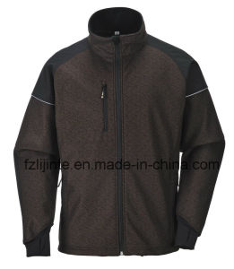 2016 Softshell Jacket Men′s Workwear with Reflective Strips pictures & photos
