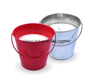 Color Painted Bucket Citronella Candle with Handle (SK8097)