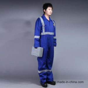 100% Cotton Proban Flame Retardant Safety Work Clothes with Reflective Tape pictures & photos