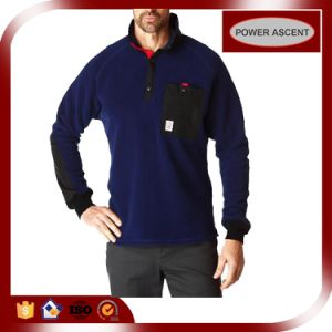 2016 Mens Blue Pullover Wool Fleece Hoodie for Leisure Wear pictures & photos