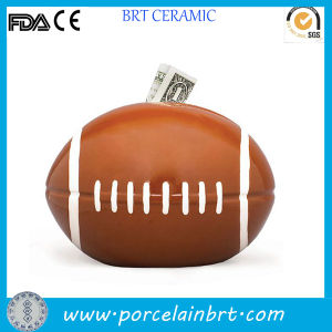 Personalized Football Shaped Money Cash Box pictures & photos