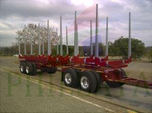 Skeleton Type Timber Transporting Logging Semi Trailer pictures & photos