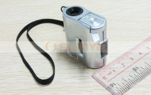 60X LED Lights Jewelry UV Detector Lens Handheld Magnifier pictures & photos