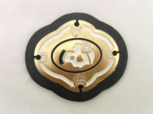 Custom Fashion Metal Leather Patch pictures & photos