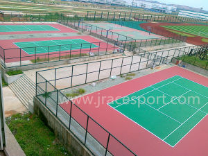 EPDM Durable Itf Tennis Court Flooring (JRace CD002) pictures & photos