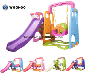 Kids Play Set Outdoor Amusement Park Plastic Slide and Swing for Sale pictures & photos