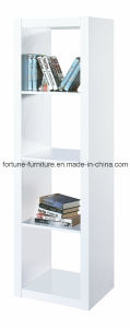 Wooden UV High Gloss White Bookcase (5018) pictures & photos