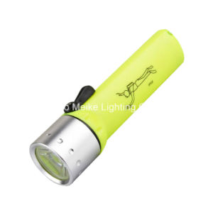 CREE LED Magnetic Switch Waterproof Diving Flashlight (MK-6201)
