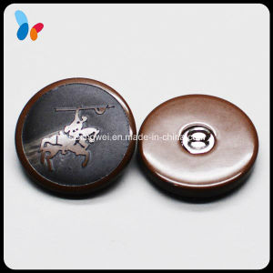 Design Your Own Logo Round Plastic Resin Shank Button for Garment pictures & photos