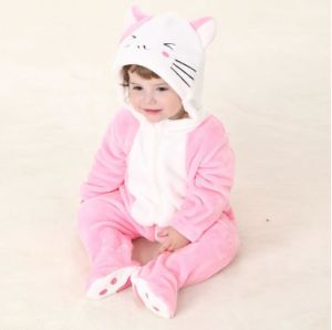 Baby Clothes, 100% Polyester Fleece Shaped Romper / Cat and Mouse pictures & photos