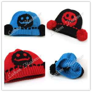 (LKN14021) Winter Fashion Promotional Earflaps Knitted Hats pictures & photos