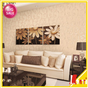 Appropriate Price Embossed PVC Wallpaper for Living Room Decor pictures & photos