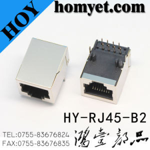 RJ45 Connector/RJ45 Socket with DIP Type for Computer (HY-RJ45-B2) pictures & photos