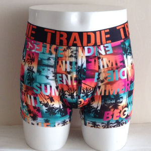 Printed Pure Polyester Boxer Briefs Mens Underpants pictures & photos