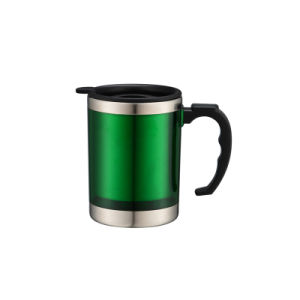 450ml Coffee Mug with Outside Plastic Inner Stainless Steel pictures & photos
