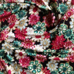 Printed Double Jersey Silk in Flower Pattern pictures & photos