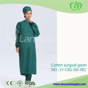 Dark Green Cotton Surgical Gown Reusable pictures & photos