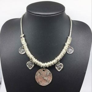 Alloy Ring Parts Drops Chain Necklace (XJW13790) pictures & photos