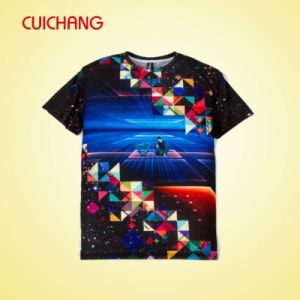 Wholesale Custom Polyester Tee Shirt with Full Printing