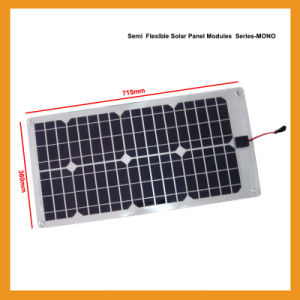 28W Flexible Solar Photovoltaic Component of Monocrystalline Silicon Solar Panels pictures & photos