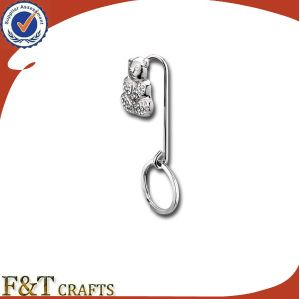 Wholesale Cheap Custom Metal Clothes Purse Hanger Hook with Keyring (FTBH9214J) pictures & photos