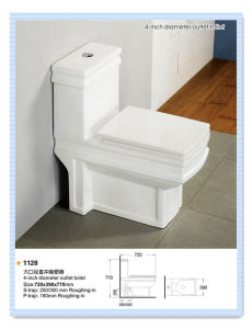 Foshan Factory Outlet Hot Ceramic Toilet (1128) pictures & photos