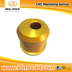 Aluminum CNC Turning Parts with Gold Anodizing pictures & photos
