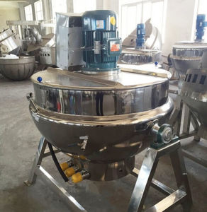 Sanitary Stainless Steel Natgas Heating Tilting-Type Jacketed Kettle pictures & photos