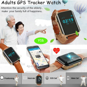GPS Tracker Watch with Heart Rate Monitor for Elderly (Y16) pictures & photos