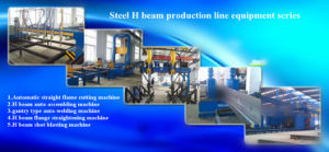 Light Steel and Heavy Stee H-Beam Welding Equipment pictures & photos