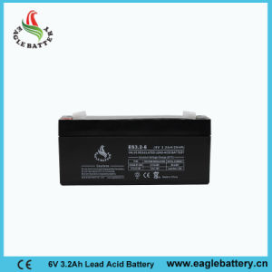 6V 3.2ah Rechargeable Lead Acid Battery for Alarm System pictures & photos