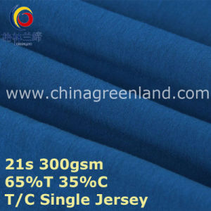 Cotton Polyester T65/C35 Knitted Jersey Fabric for Garment Shirt (GLLML386) pictures & photos