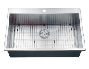 Stainless Steel Top Mount Single Bowl Handmade Kitchen Sink, Kitchen Basin, Kitchen Tank pictures & photos
