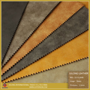Rough Yabuck PU Leather for Shoe (s177) pictures & photos