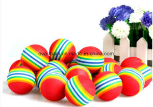 2016 Hot Sale Favorite Cute Colorful Crazy Promotional Happy EVA Rainbow Ball Toy for Kids