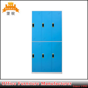 Jas-028 Vintage Practical Storage Clothing Kd 6 Door Steel Wardrobe with RFID Digital Lock pictures & photos