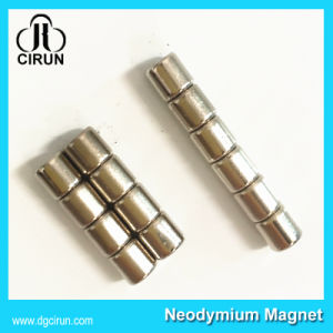 Zinc Plated Neodymium Cylinder Sintered Magnets for Motor pictures & photos
