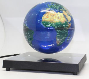 High Quality Plastic Square Floating Suspending Rotating World Globe Gift for Decoration Christmas Gift