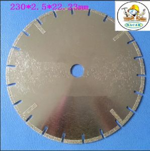 "230X22.23mm Electroplated Diamond Saw Blade with ""U′ Slot"