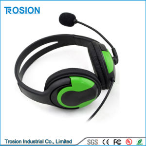 Big Headset for PS4 Black and Green + Sponge