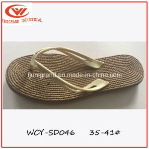 Summer Beach Slipper Women Outdoor Sandals with TPR Sole pictures & photos