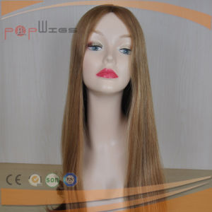 Blond Human Hair Hand Tied Top Full Lace Human Hair Wig pictures & photos