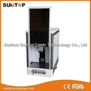 Full Enclosed Type Desktop Fiber Laser Marking Machine/Laser Marking Machine pictures & photos
